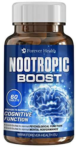 Nootropic Boost - 60 Pillen pures Gehirndoping